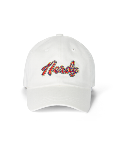 Washed Multi Color Embroidery Ball Cap White