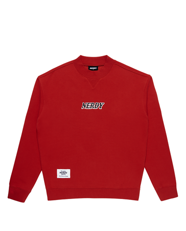 Brushed High-neck Sweatshirt Red