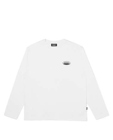 Oval Logo Long Sleeve T-shirt White