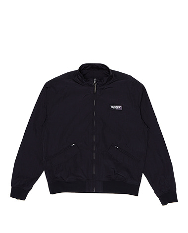 Wrinkle Windbreaker Jacket Black