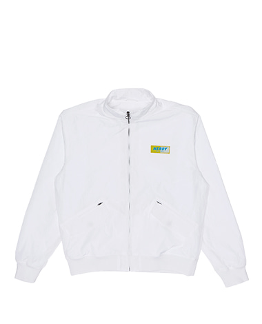 Wrinkle Windbreaker Jacket White