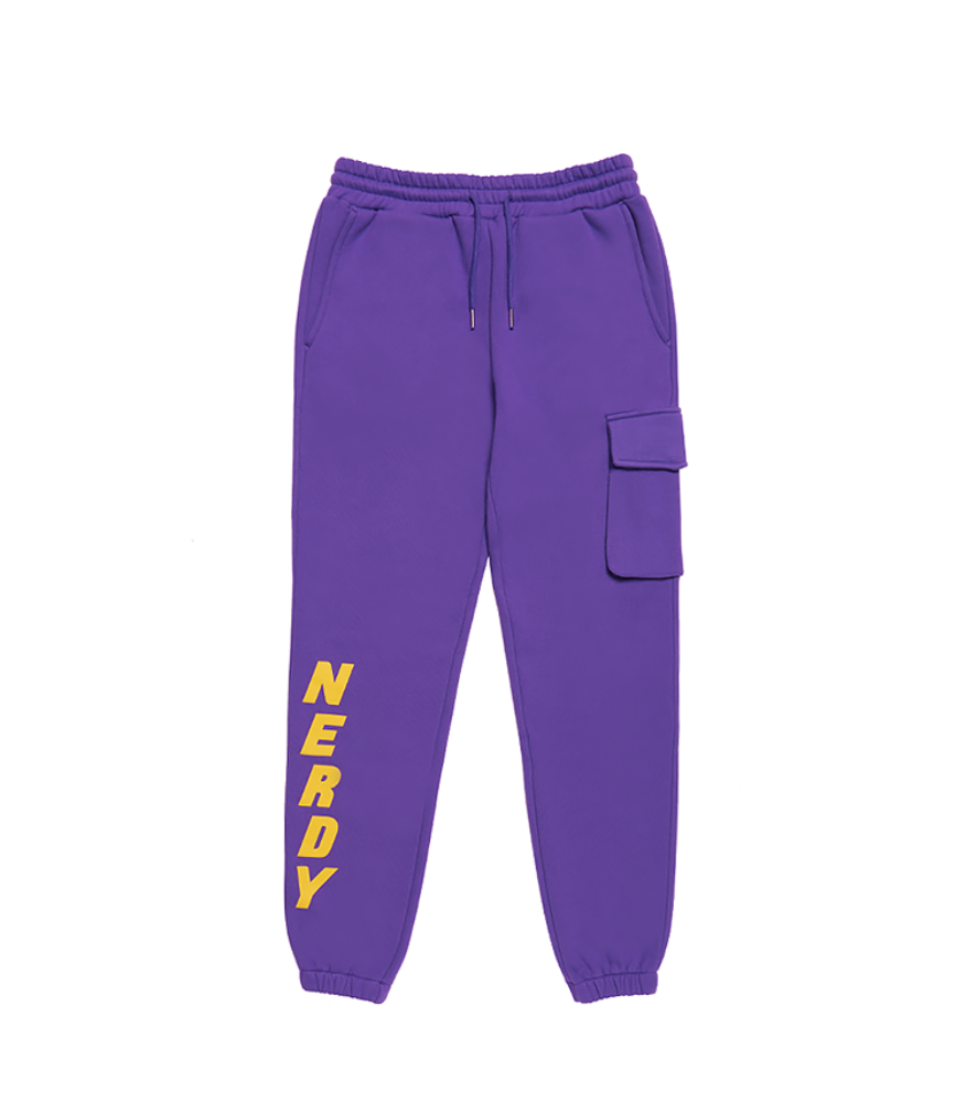 Brushed Jogger Pants Purple