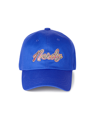 Washed Multi Color Embroidery Ball Cap Blue