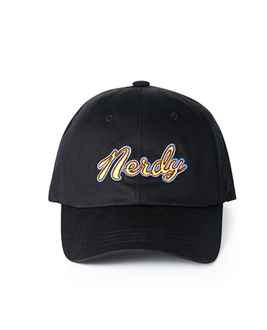 Washed Multi Color Embroidery Ball Cap Black