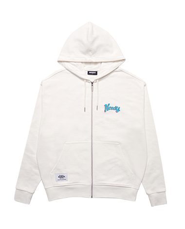Hooded Zip-up Cream