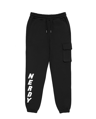 Brushed Jogger Pants Black