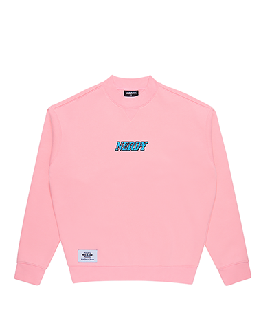 Brushed High-neck Sweatshirt Baby pink