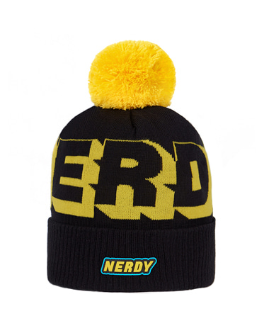 Multi Color Logo Ball Beanie Black