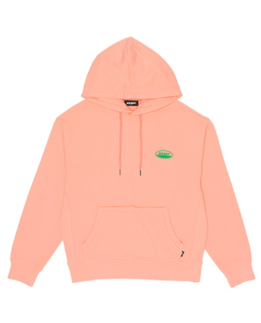 Oval Logo Pullover Hoodie Light Orange