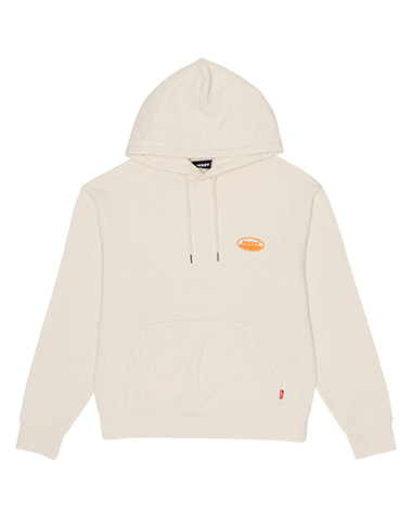 Oval Logo Pullover Hoodie Ivory