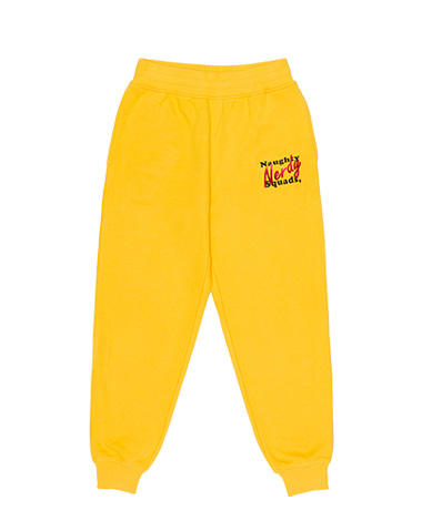 Glitter Print Sweatpants Yellow