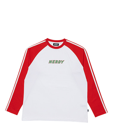 Raglan Long Sleeve T-shirt Red