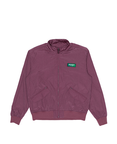 Wrinkle Windbreaker Jacket Burgundy