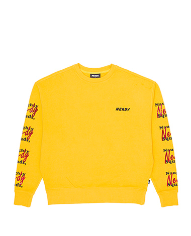 Glitter Print Sweatshirt Yellow