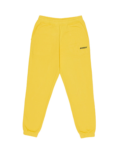 Basic Logo Sweatpants Yellow