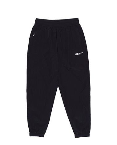 Wrinkle Windbreaker Pants Black