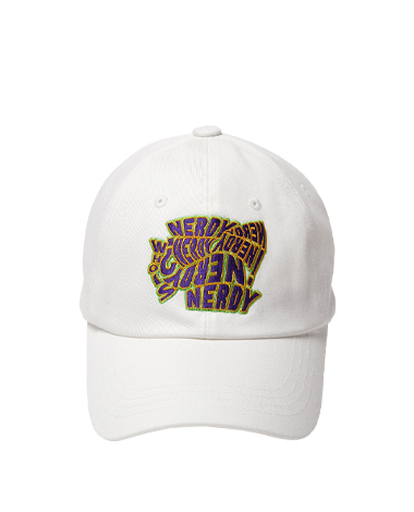 Dizzy Graphic Ball Cap White