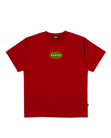 Bubble 1/2 Sleeve T-shirt Red