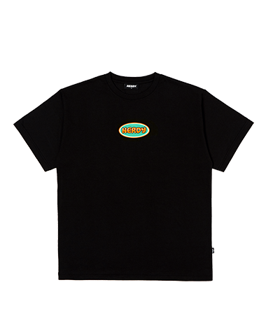 Bubble 1/2 Sleeve T-shirt Black