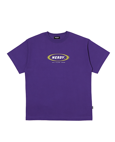 Blurred Logo 1/2 Sleeve T-shirt Purple