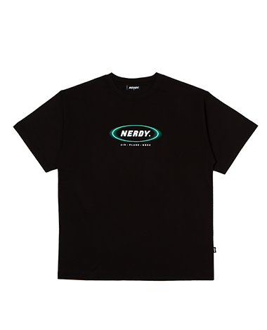 Blurred Logo 1/2 Sleeve T-shirt Black