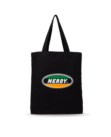 Oval Logo Eco Bag Black