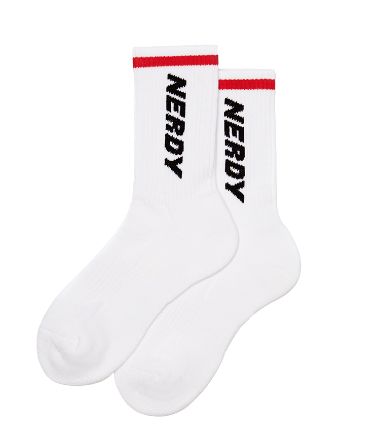 Basic Logo Socks_White