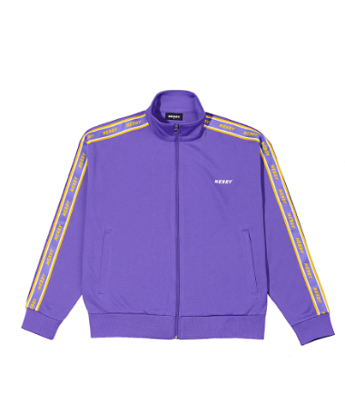Logo Tape Track Top Purple